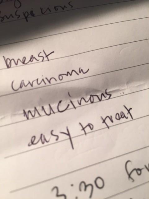 Mucinous carcinmoa notes